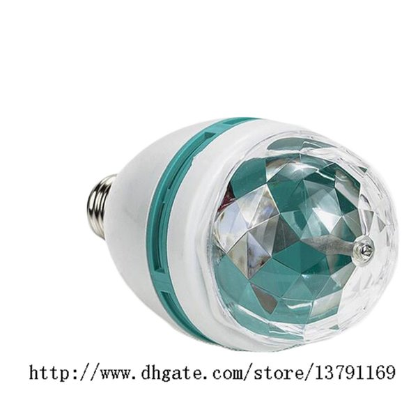 Stage Light RGB LED Bulb Crystal Ball Bulb Rotating LED Energy Saving 3W E27 for Club DJ Disco Party Festivals