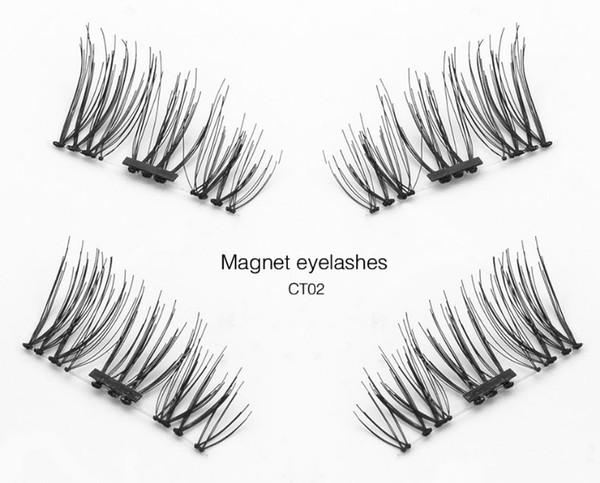 Magnetic Eyelashes 4pcs Magnet False Eyelash High Quality Magnetic Lashes Magnet Eyelashes Magnetic Beauty Makeup Set 3D Fake Lashes