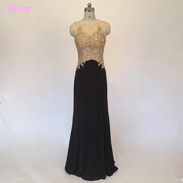 Real Photos Black Mermaid Prom Dresses Long Formal Evening Gown ...