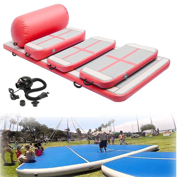 Free Shipping Inflatable Tumble Track Trampoline Air Track Gymnastics Inflatable Air Mat Come With a Pump