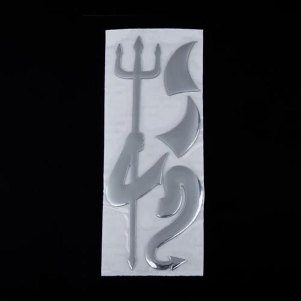 top popular 3D Devil Style Demon Decoration Sticker for Car Auto Car Emblem Logo Paper Decal 2021
