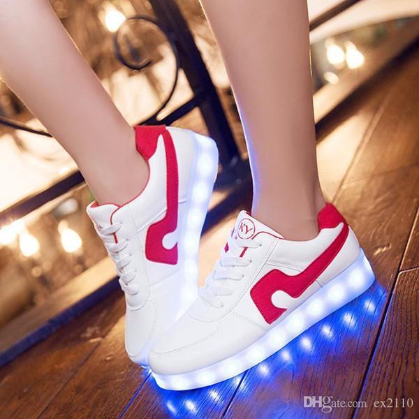 Pop Schöne Mode Schuhe Led Schöne Frauen Casual Männer Leuchten Schuh Herren Homme Luminous Femme Chaussures Lumineuse Für Erwachsene