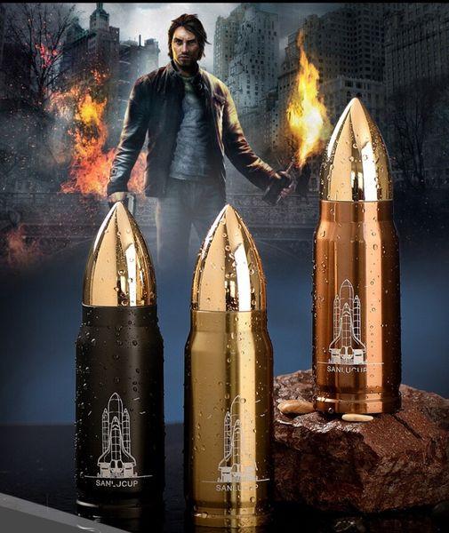 500 ml Yaratıcı Bullet Şekli Şişe Paslanmaz Çelik Termos Su Şişesi Vakum Şişeler Kahve Kupa Bardak Su Isıtıcısı Yalıtımlı Su Şişesi Hediye 77