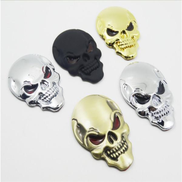 10 PCs / PackCar metal sticker skull logo car body sticker The devil sticker