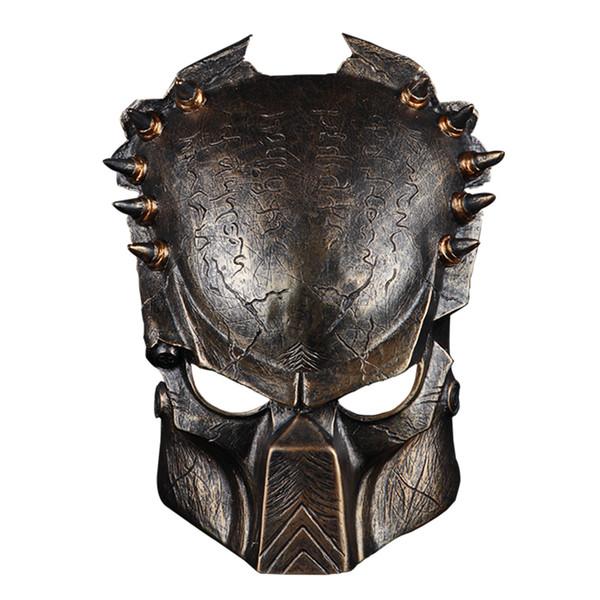 PREDATOR Maschera Alieno Halloween Costume Adulti Da Uomo Ragazzi Costume Argento Oro