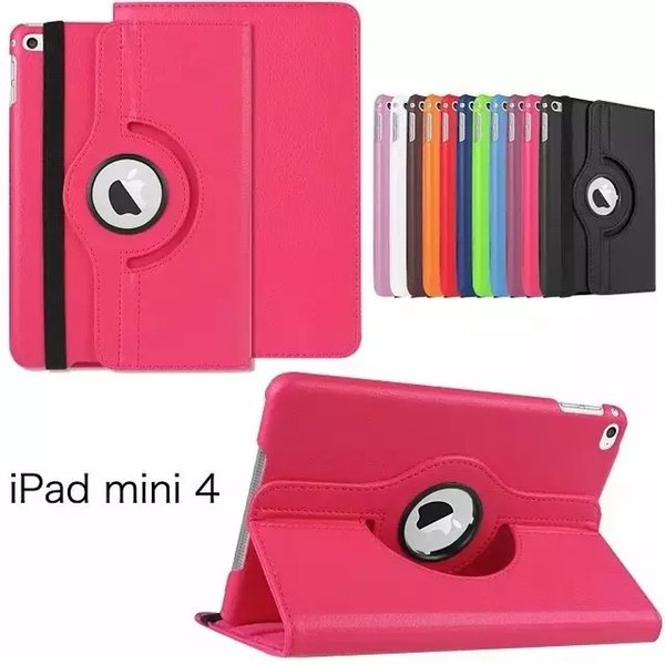 """360 Degree Rotating Leather Stand Case For Apple iPad Mini 4 Smart Flip Cover For iPad Mini4 7.9"""" Vintage"""