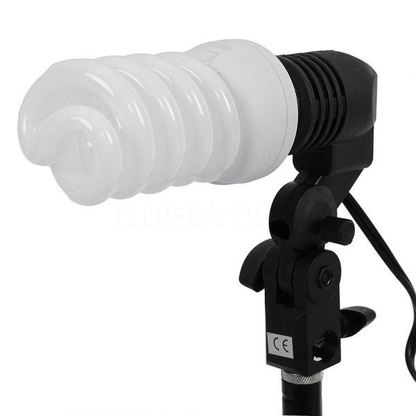 Wholesale- E27 Single Head Photo Lighting Bulb Holder Socket Flash Umbrella Bracket Photography Studio Light Fitting EU/US Plug