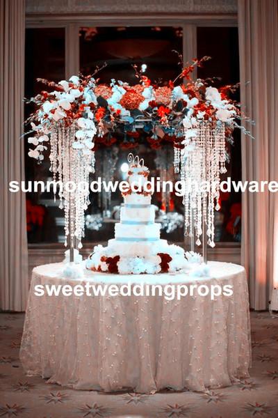 Luxury Wedding Pillars Column Wedding Stage Walkway Stand Crystal Aisle Pillar For Weddings Planner Decor Hawaiian Party Decorations Hawaiian Party