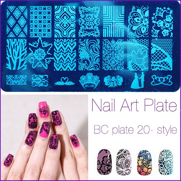 Wholesale Fashion Series Steel Nail Stamp Stamping Image Konad Plate Print Art Template DIY