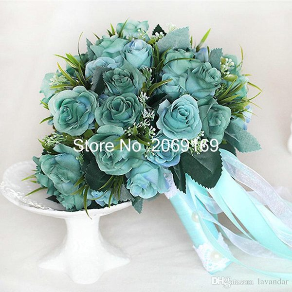 Korean Bride Wedding Champagne Roses Simulation Wedding Flower ...