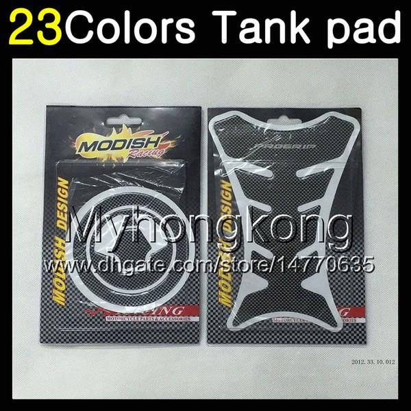 23Colors Protector de almohadilla del tanque de gas de fibra de carbono 3D para KAWASAKI NINJA ZX6R 94 95 96 97 ZX-6R 6 R ZX 6R 1994 1995 1996 1997 Etiqueta engomada de la tapa del tanque 3D