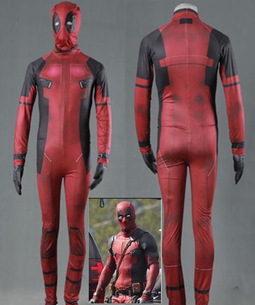 Deadpool jumpsuits cosplay halloween costumes