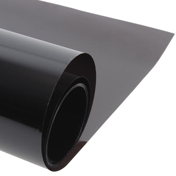 Wholesale- 50cmx300cm Dark Black Car Window Tint Film Glass VLT 5% Roll 1 PLY Car Auto House Commercial Solar Protection Summer