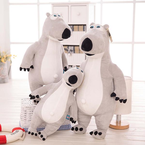 45 cm New Gigante enorme grande bichos de pelúcia cinza Unlucky ursos brinquedo de pelúcia travesseiro presente de aniversário para crianças