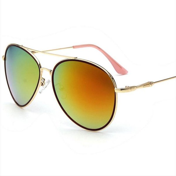 HOT Sunglasses for women sun glasses Casual mirror UV400 AC Plexiglass Fashion beach Metal frame Accessories new Color lens 1 piece