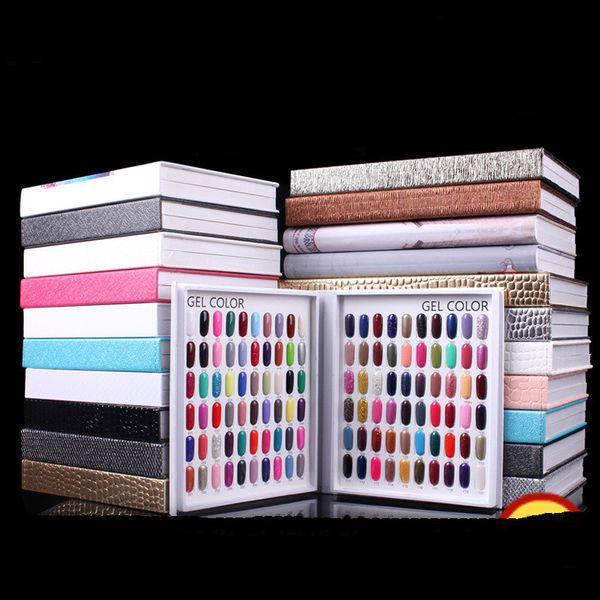 Professional Model 216 Colors Nail Gel Polish Color Display Card Book Dedicated Card Chart Nail Art Tools With 226 False Nail