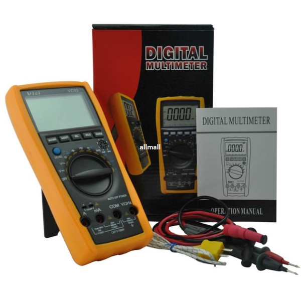 Freeshipping 3 6/7 Auto range digital multimeter with bag better FLUKE 17B DC AC voltage current Resistance Capacitance