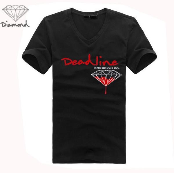 Free Shipping G622105M men s-3xl Cheap 20 styles Quick Dry Diamond Supply v-neck T-Shirts short sleeve tops