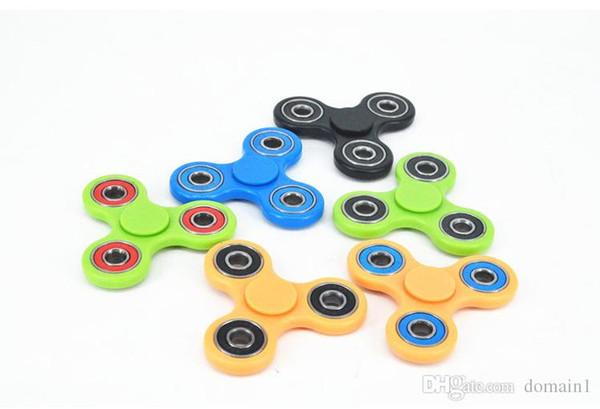 Em estoque Tri-Spinner Fidget Brinquedo De Plástico EDC Mão Spinner Para O Autismo e TDAH Rotação Tempo Longo Anti Stress brinquedos