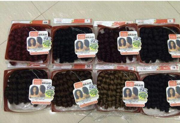 22 Roots Jamaican Bounce Crochet Hair 8'' Jumpy Wand Curl Twist Braid Hair Sensational Trenza African Collection Hair Braiding