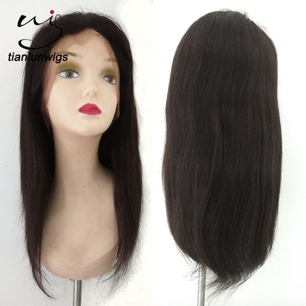 yes virgin hair and human hair material full lace wig technique natural straight lady's hair wig lace front hot selling