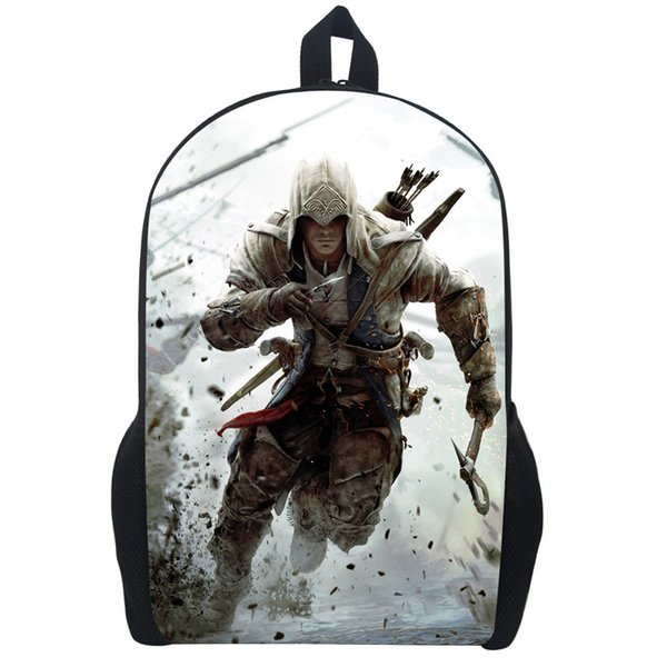 Wholesale- Assassin's Creed Backpack For Teenagers Children School Bags Boys Assassins Creed School Backpacks Men Daily Bag Women Backpack