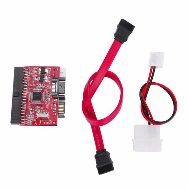 Al por mayor-Durable IDE HDD a SATA Serial ATA Converter Adaptador Hard Disk Driver Support para ATA 133 100 HDD Adaptador de CD