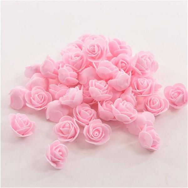 50 pcs / sac Artificielle De Mariage Fleur Tête À La Main DIY De Mariage Décoration De La Maison Multi-usage PE Mousse Rose Expédition Rapide