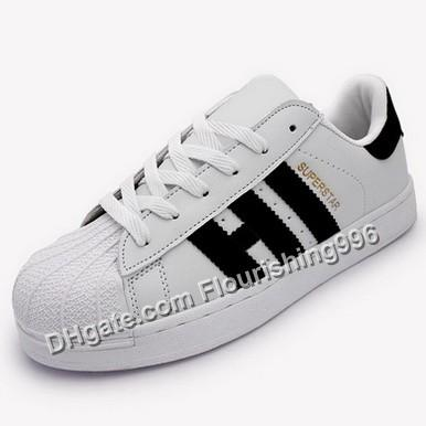 Lowest Price ! Men & Women Shoes Flat Bottom Plate White Black Golden Color Direct Business Superstar Shoe Casual Shoes Drop Shipping