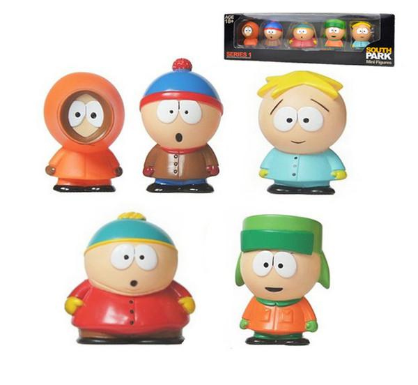 5 pcs/lot South Park Action Figures 6cm South Park car Doll Set PVC kids catoon toy