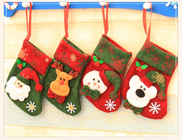 Making Christmas Stocking.Christmas Stockings Hand Making Crafts Children Candy Gift Bag Santa Bag Elk The Old Man Snowman Xmas Festive Party Supplies Best Toys For Christmas