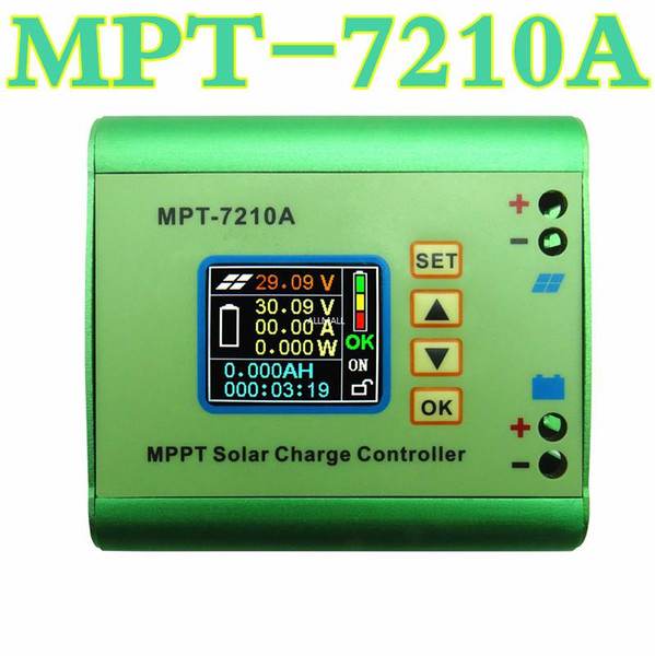 Freeshipping MPT-7210A MPPT DC-DC Step-Up Power Solar Charge Controller For Lithium battery 10A,24V 36V 48V 72V Automatic Identification