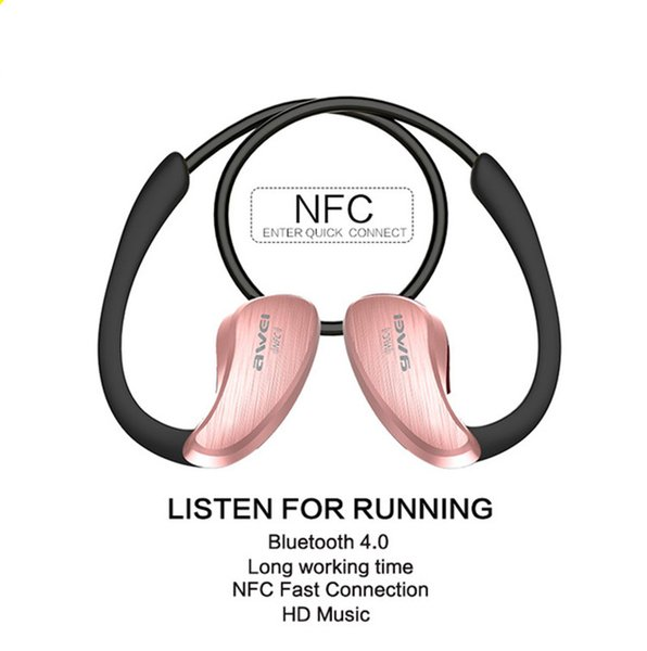 Awei A885BL NFC HiFI Waterproof Headphone Wireless Bluetooth Headset Earphones Voice control Inear Earbuds with Mic for Phones