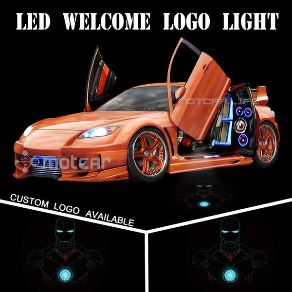 Universal Fit Car Door Welcome Light Projector Laser 3D Iron Man GOBO Logo Light Welcome Ghost Shadow Puddle Emblem Spotlight