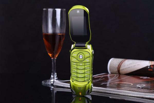 NEWMIND F15 Flip Phone avec caméra Dual SIM LED lumière 1,8 pouces écran téléphone de voiture de luxe (peut ajouter un clavier russe)