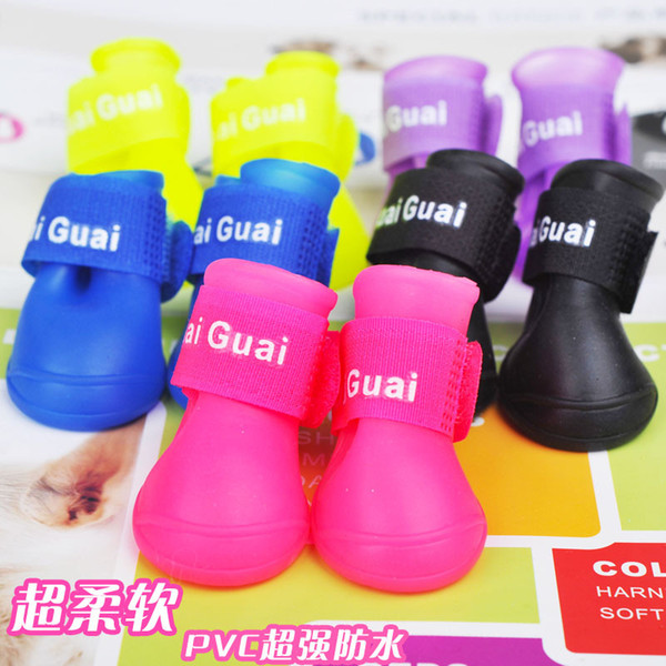 Pet Rainshoes Waterproof Silicone Texture Of Material Shoes Wear Resisting Pinkycolor Soft And Comfortable Lithe The Dog Galoshes 5 89jn J1