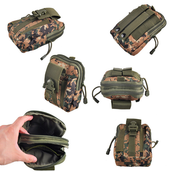 Ventas calientes al aire libre Sport Waist Bag Gran capacidad Tactical Molle Pouch Belt Hombres Riñonera Fanny Pack Military Waist Pack 82509001
