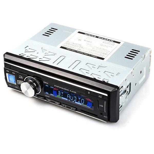 100% Orijinal Araba Radyo Stereo Çalar Bluetooth Telefon AUX-IN MP3 FM / USB / 1 Din / Uzaktan Kumanda Iphone 12 V Araba Ses Araba Elektronik