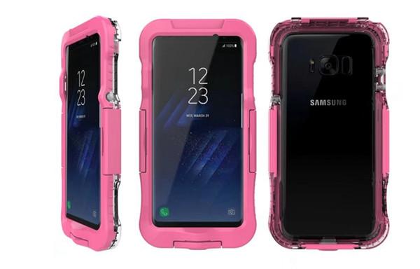 Custodia subacquea subacquea 5M per Iphone X 8 7 Plus 6 6S Galaxy Note 8 Custodia impermeabile S8 acrilico Trasparente corpo completo Custodia antiurto Custodia Cover pelle
