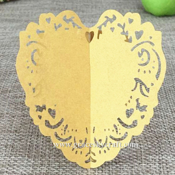 50pcs Free Shipping Laser Cut Towel Buckle Paper Wedding Napkin Ring decoration Love Heart lace design for Party Table Decoration