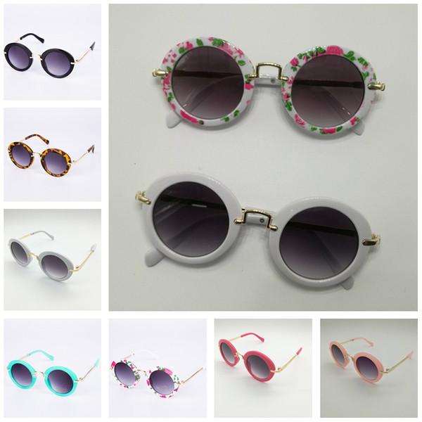 Sunglasses for Kids Round Vintage Sun Glasses Boys Girls Designer Adumbral Fashion Children Summer Beach Sunblock Accessories Hot Sale