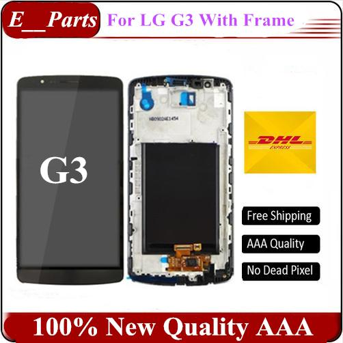 Original For LG G3 D850 D851 D855 VS985 LS990 LCD Display Touch Digitizer Screen Assembly With Good sFrame By Fast shipping