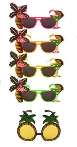 best selling Hawaiian Glasses Tropical COCKTAIL Hula Beach beer Party Sunglasses Pineapple Flamingo Goggles Hen Night Stage Fancy Dress eyewear favors