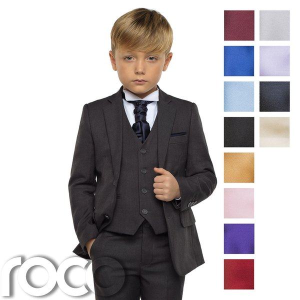 Boys Grey Suit, Page Boy Suits, Boys Wedding Suit, Boys Check ...