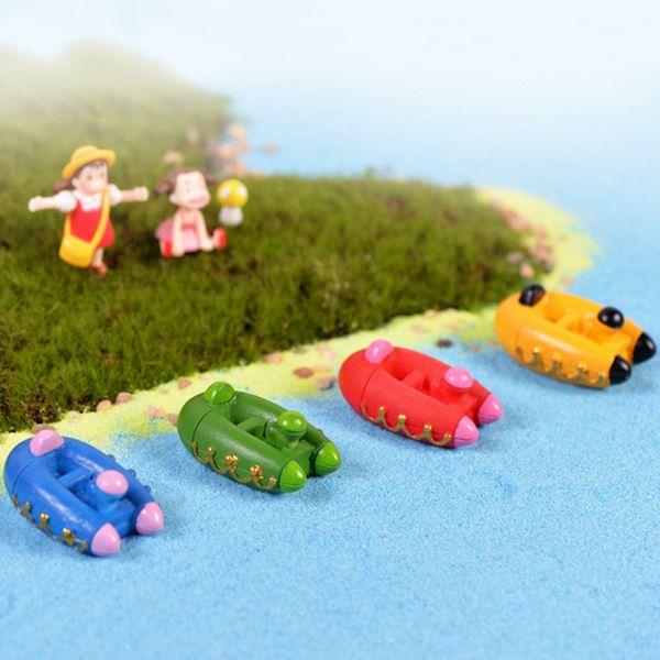 5pcs Seaside yacht boat Aquarium miniaturas para mini jardins bonsai terrarium figurines home ornaments fairy garden pot decor