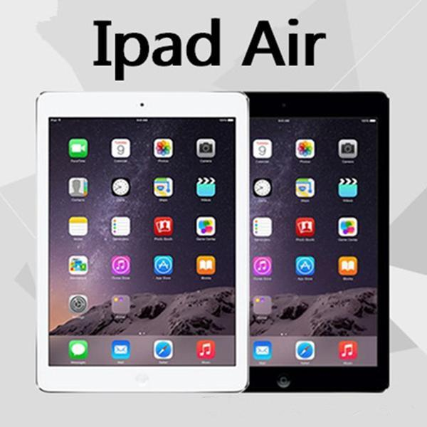 "top popular Refurbished Genuine Apple iPad Air IOS Tablet 16GB 32GB 64GB Wifi iPad 5 9.7"" Retina Display iPad 5th generation DHL 2019"