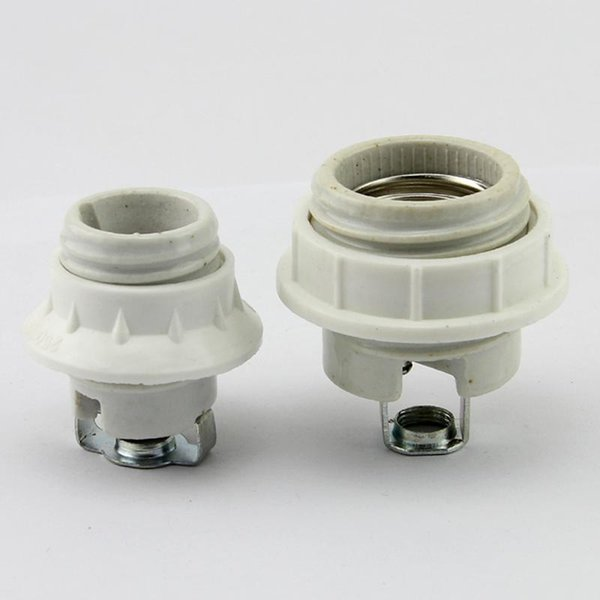 4 pieces/lot E14 or E27 full ceramic lamp resistantce to high temperature screw-mount lamp base lamp holder with m10 bracket