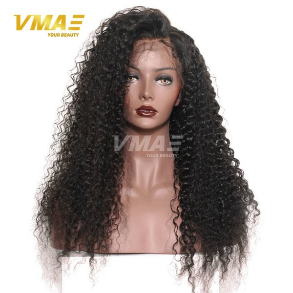 150% Density Curly Lace Frontal Human Hair Wigs For Black Women Full lace wig Pre Plucked Natural Hairline With Baby Hair VMAE Remy Hair