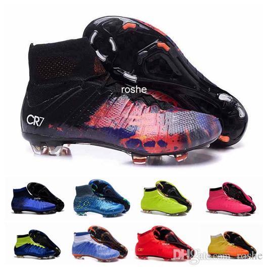2016 FG Kinder Fußballschuh Stiefel CR7 Stollen Jugend Frauen Jungen Männer Fußball Fußball Schuhe Eur Größe 35-45
