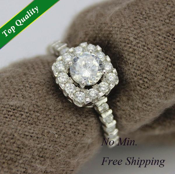 Aneis de Diamante Vintage Fashion Jewellery Bijoux Finger Engagement/Wedding Crown Rings Anel for Women Silver 925 D&C Y018